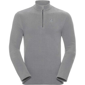 Odlo Roy 1/2 Zip Midlayer Herren platinum grey-odlo steel grey-stripes